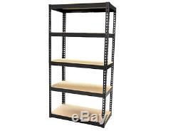 New 1.5m Heavy Duty 5 Tier Metal Boltless Shelving Shelves Storage Unit Rack