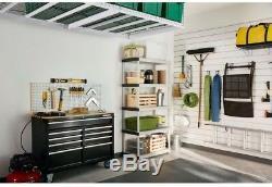 New 4 x 8 ft Overhead Ceiling Adjustable Garage Storage System Rack Shelve White