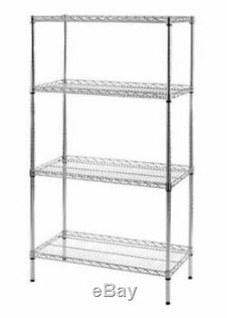New Chrome Wire Shelving Heavy Duty Display Commercial Racking