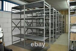 OVER 60' Warehouse Racking Shelving Heavy Duty Metal Available until Mid Aug