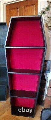 Onen Emporium Large 5ft Coffin Shelf professionally made gothic spooky Bookcase