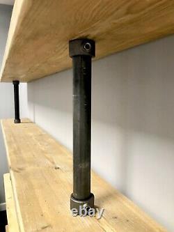 Pipe & Reclaimed Wood Scaffold Board Vintage Industrial Shelves Bookcase 3 Feet