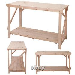 Potting Heavy Duty Wood Worktable Greenhouse Staging Bench / Bonsai Table 4-6 FT
