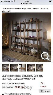 Quatropi tall shelving unit in Walnut with 5 shelves