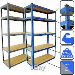 Racking Bays 5 Tier Boltless Garage Shelving Unit Storage Rack Heavy Duty Shelve