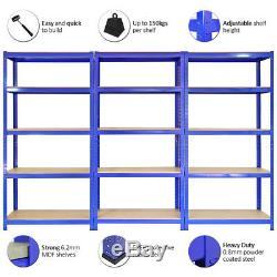 Racking Storage Shelving Heavy Duty Garage 5 Tier 75cm Steel Shelves Warehouse