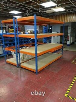 Rapid 1 Racking 4-Tier Heavy Duty Warehouse Racking (800kg per shelf)
