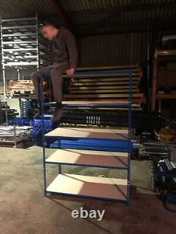 Rapid Racking UsedShelving Heavy Duty 2m / 1200 / 600mm 5 -shelf Tier With Wood