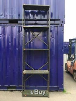 Reclaimed Pre War Heavy Duty 7 Tier Shelving Steel Racking Warwick Reclamation
