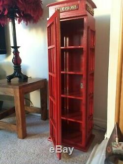 Retro Style London Telephone box Cd Dvd storage cabinet up to 100 cds