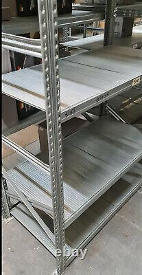 Run Of 5 Bays Of Metalsistem Heavy Duty Light Weight Boltless Shelving/Racking