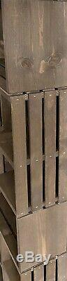 Rustic Wood Crate Bookshelf Storage