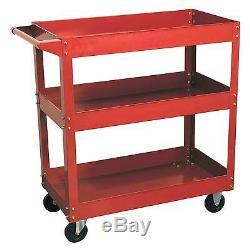 Sealey Heavy-Duty 3-Level Shelf Workshop/Garage Trolley / Tool Storage CX108