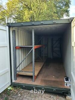 Set of pallet racking heavy duty shelving, perfect for a container