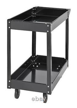 Shelf Heavy Duty Workshop Garage Storage Tool Parts Trolley Durable Wheel Cart