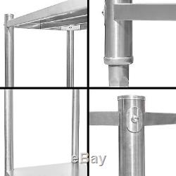Shelving unit heavy duty rustproof stainless steel storage rack catering kitchen