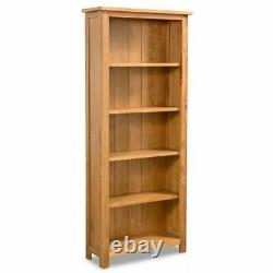 Solid Oak Wood 3 5 6 Tier Bookcase Book Shelves Display Home Office Bookself New