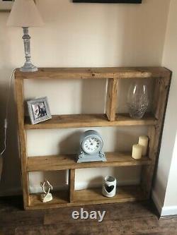 Solid wood luxury shelving unit