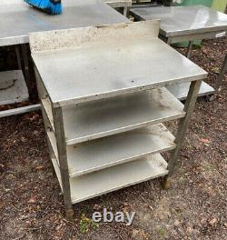Stainless Steel Table Heavy Duty With Multiple Shelves
