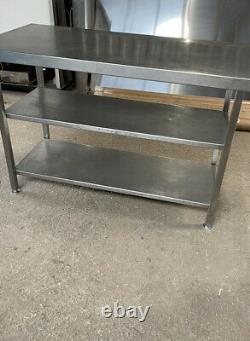 Stainless Steel Table With Double Under Shelf Heavy Duty