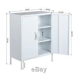 Standing Metal Locker Organizer Kids Toys Storage With Door 2 /3 Tier Shelves