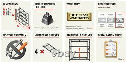 Steel Garage Storage Shelving organizer rack shelf unit metal heavy duty home