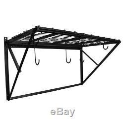 Steel Storage Shelf Wall Mount Garage Home Organizer Heavy Duty Hanging Metal