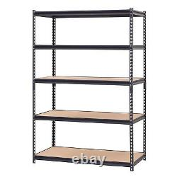 Storage Rack 5 Adjustable Shelves Steel Garage Home Metal Shelf Unit Heavy Duty