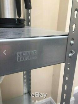 Super heavy duty galvanised steel shelving made in the UK by Shelving Direct