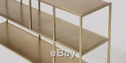 Swoon Aero Living Room 2 Shelves Shelving Brass RRP £239