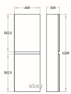Tall Boy White Gloss Wall Hung Storage Bathroom Kitchen 100% Waterproof