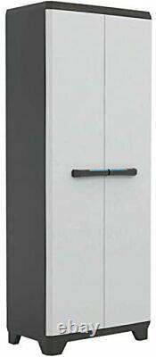 Tall Plastic Cupboard Storage Outdoor Garden Shelves Utility Cabinet Box