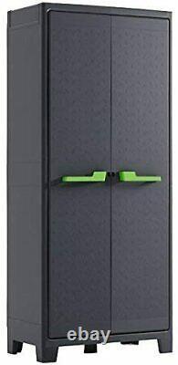 Tall Plastic Waterproof Cupboard Storage Outdoor Garden Shelves Utility Box