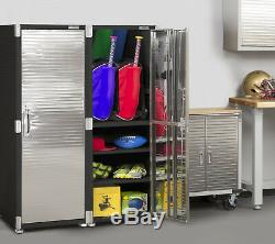 Tall Storage Cabinet Satin Granite Commercial Heavy-Duty Home Organizer Shelves