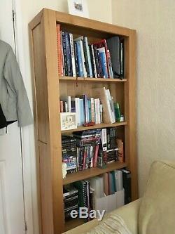 Tall bookcase + drawer Fresco Natural Solid Oak by Oak Furniture Land