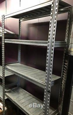Tier 5 Bay 2m Metal Galvanise Boltless Industrial Heavy Duty Shelving Racking