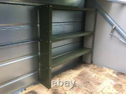 Trimetals Metal Store/Shed (Dark Green) with interior shelving unit