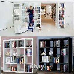 Unit Display 16 Cubes Bookshelf Storage Bookcase Shelving Cabinet Home Office UK
