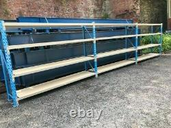 Used PSS Heavy Duty Industrial Shelving System H1950 x L2700 x D600mm 3 Levels