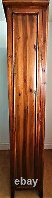 Used Tall Narrow Dark Brown Wooden Book Shelf Unit