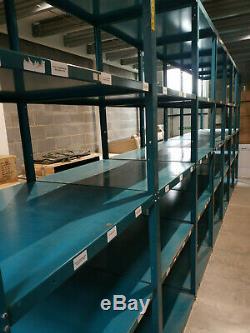 Used Warehouse racking / Heavy duty Longspan shelving / 8 Bays of 250x90x90cm