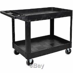 Utility Cart-2 Shelf Heavy Duty Black Luxor XLC11B