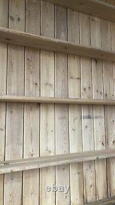 Vintage Antique Pitch Pine Shelving Unit