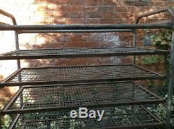 Vintage Heavy Duty Industrial Bakery Shelves/ Bread Trolley on Castors (85m)