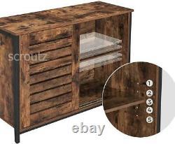 Vintage Industrial Sideboard Rustic Kitchen Pantry Dining Room Cupboard Cabinet