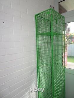 Vintage Industrial Wire Metal Locker Storage Cabinet Shelf unit Wardrobe Retro
