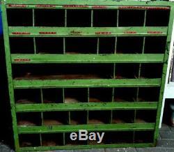 Vintage Steel Pigeonhole engineers cabinet shelving original paint