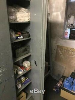 Vintage Tall Grey Industrial Heavy Duty Cabinet with 5 shelves