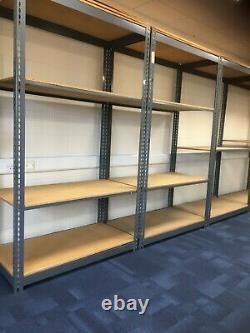 Warehouse Racking 5 Tier Shelving Boltless Heavy Duty Metal Shelf Storage-Grey