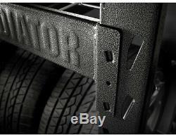 Welded Steel Garage Shelving Unit 4-Shelf Heavy Duty Steel Adjustable Shelves